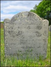 Sarah's Grave, which says: 'HERE LYES Ye BODY OF Mrs. SARAH GROSVENOR, DAUGr. OF LICESTER GROSVENOR ESQ. & Mrs. MARY HIS WIFE, WHO DIED SEPr. 14th 1742, IN  Ye 20eth. YEAR OF HER AGE.'